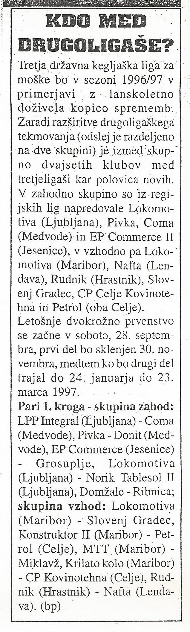 Ekipa, 1996