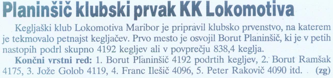 Večer, 2000