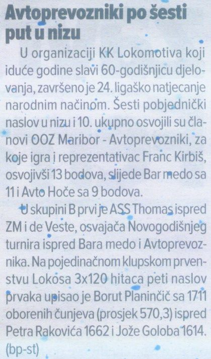Sportske Novosti, 2011