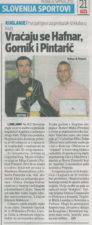 Sportske Novosti, 2012