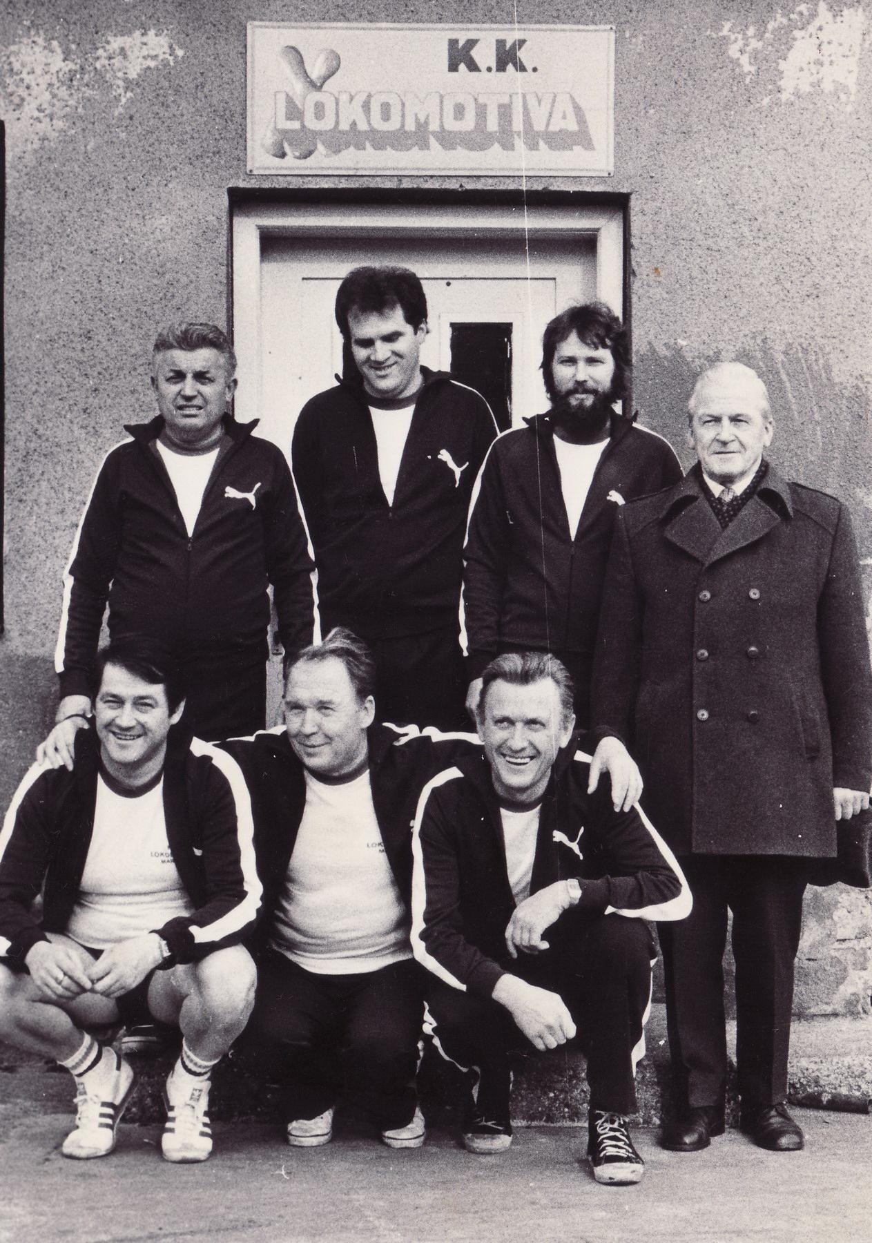 Mandl z ekipo, 1982