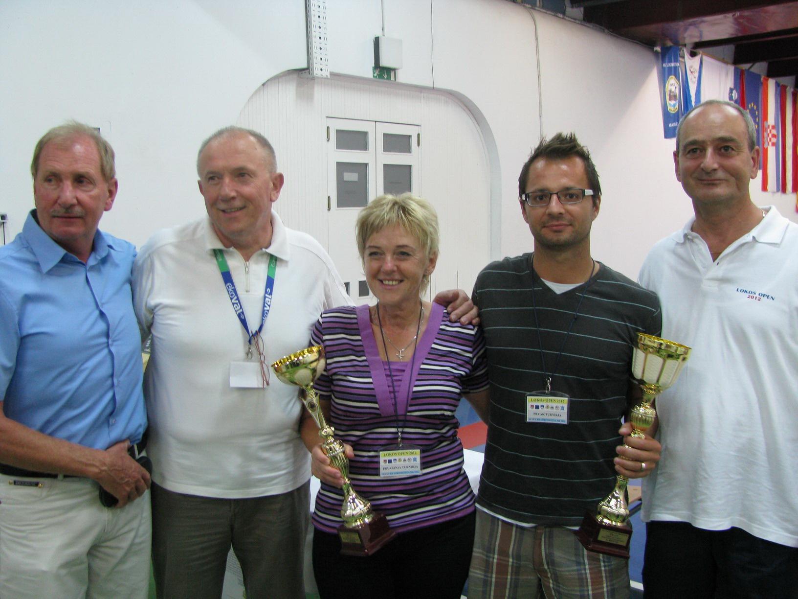 Zmagovalca Lokos Open, M. Kramberger in S. Sajko
