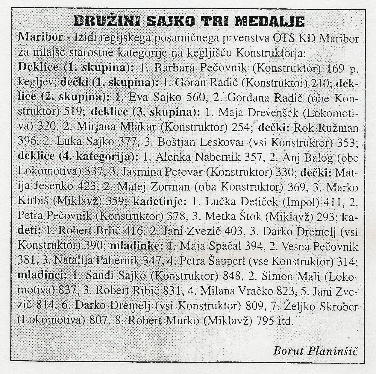 OKZ, Ekipa, 1996