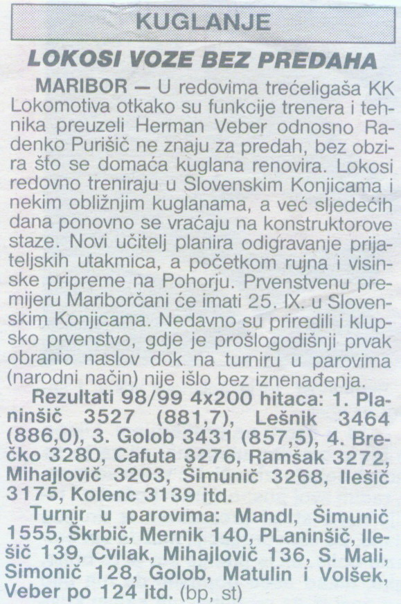 Sportske Novosti, 1999